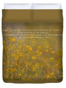 Autumn Wildflowers W Quote Duvet Cover