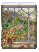 Autumn Windows Duvet Cover by Timothy  Easton