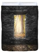 Autumn Within Long Pond Ironworks - Historical Ruins Duvet Cover