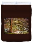 Autumnal Colors In The Summer Time. De Haar Castle Park Duvet Cover