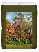 Autumnal Foliage Duvet Cover