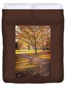 Autumnal Park Duvet Cover