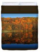 Autumns Colorful Reflection Duvet Cover