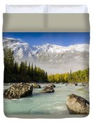 Autumns Colors Contrast With Winters Duvet Cover by Ray Bulson