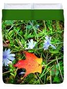 Autumns First Leaf Duvet Cover