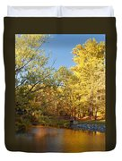 Autumn's Golden Pond Duvet Cover by Kim Hojnacki