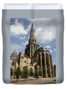 Autun Cathedral View Burgundy Duvet Cover