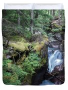 Avalanche Creek In Cedar Forest Duvet Cover