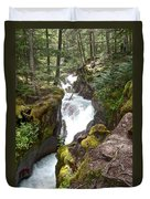 Avalanche Creek In Glacier Np-mt Duvet Cover
