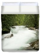 Avalanche Creek In Spring Run Off Duvet Cover