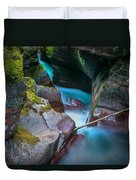 Avalanche Gorge Glacier National Park Painted   Duvet Cover