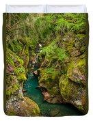 Avalanche Gorge In September Duvet Cover