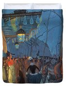 Avenue De Clichy Paris Duvet Cover by Louis Anquetin