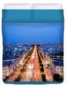 Avenue Des Champs Elysees In Paris Duvet Cover