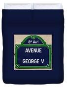 Avenue George Le Cinq  Duvet Cover