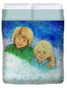 Avery And Atley Angels Of Brotherly Love Duvet Cover