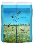 Aves En Comarca Del Sol Duvet Cover