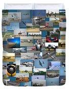 Aviation Collage Duvet Cover