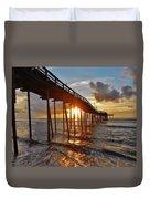 Avon Pier Sunrise 5 8/06 Duvet Cover