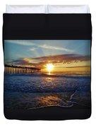 Avon Pier Surfers Paradise 9/08 Duvet Cover