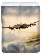Avro Lancaster Over England Duvet Cover