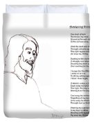 Awakening Divine Self Worth Sketch Of Jesus 2 Duvet Cover