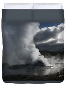 Awakening In Yellowstone Duvet Cover