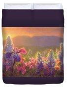 Awakening - Mt Susitna Spring - Sleeping Lady Duvet Cover