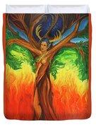 Awakening The Chakra Tree Duvet Cover