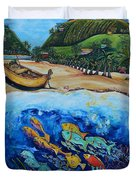 Away With The Fishes Duvet Cover