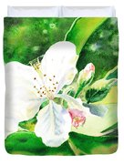 Awesome Apple Blossoms Duvet Cover
