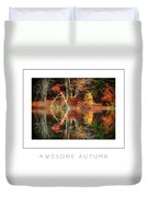 Awesome Autumn Poster Duvet Cover