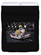 Ayrton Senna Karting Duvet Cover
