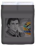 Ayrton Senna Portrait Duvet Cover