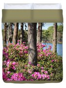 Azalea At The Lake Duvet Cover