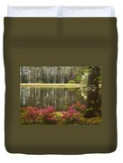 Azaleas And Reflection Pond Duvet Cover