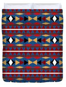Aztec Blue Pattern Duvet Cover