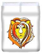Golden Aztec Lion Duvet Cover