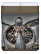 B-17g Bomber Prop Duvet Cover