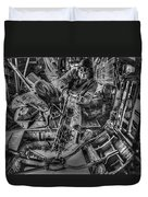 B-24 Bomber Belly Gunner - 1943 Duvet Cover