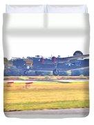 B-24 Landing Duvet Cover