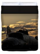 B-25 Sunset Duvet Cover
