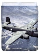 B-25 World War II Era Bomber - 1942 Duvet Cover