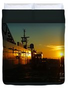 B C Ferries Sunsets Sc3417-13 Duvet Cover
