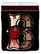 B For Bosox - Vintage Boston Poster Duvet Cover