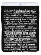 B Movies Science Fiction 20130627bw Duvet Cover