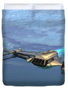 B Wing Aircraft Duvet Cover