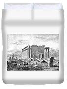 Baalbek Aka Heliopolis, 1845 Duvet Cover