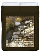 Babbling Brook William Shakespeare Quote Duvet Cover