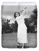 Babe Didrikson Golfing Duvet Cover